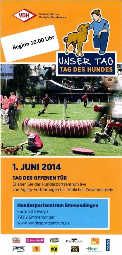 Tag des Hundes am 1. Juni 2014