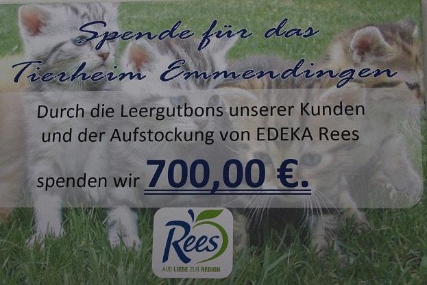 Pfandaktion bei EDEKA Rees Malterdingen